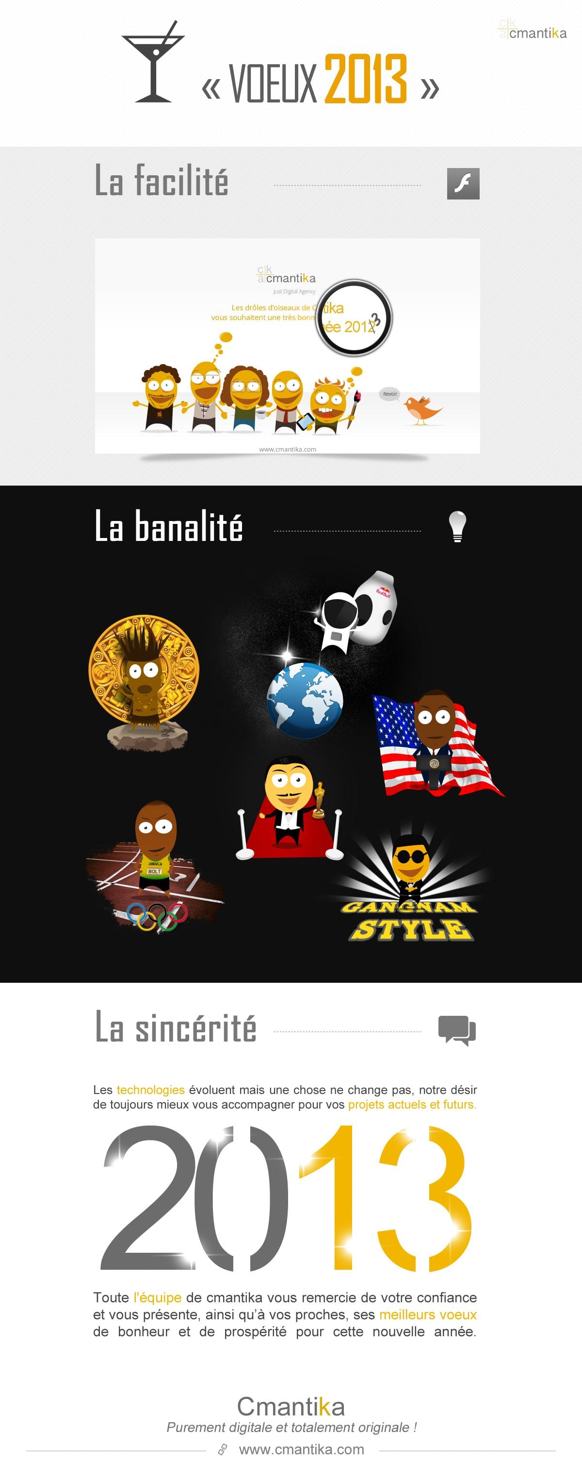 Bonne année 2013 - L'équipe de Cmantika