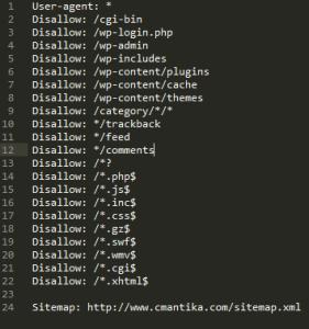 Voici un exemple de fichiers robots.txt optimisé pour le référencement