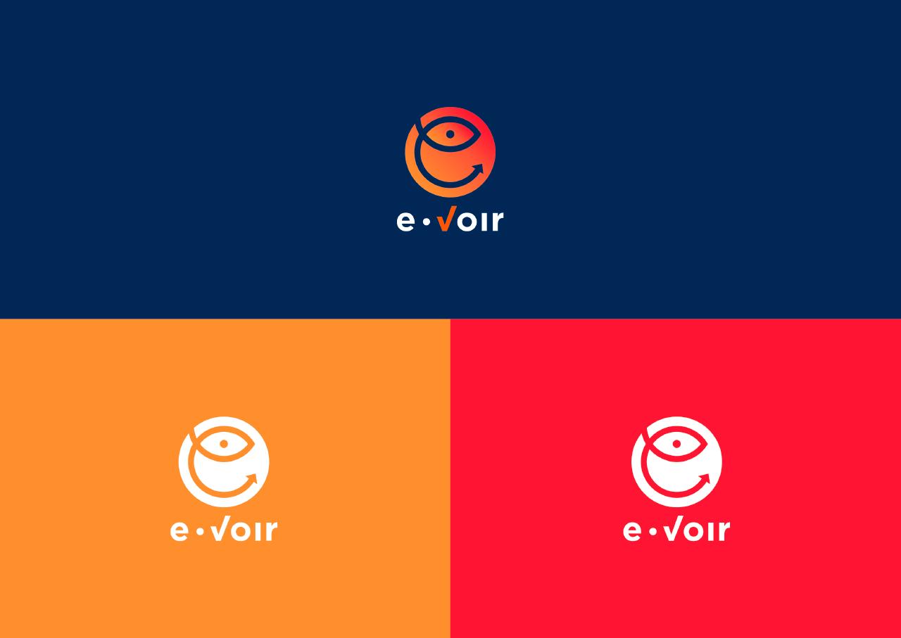 Image de la création du logo E-Voir