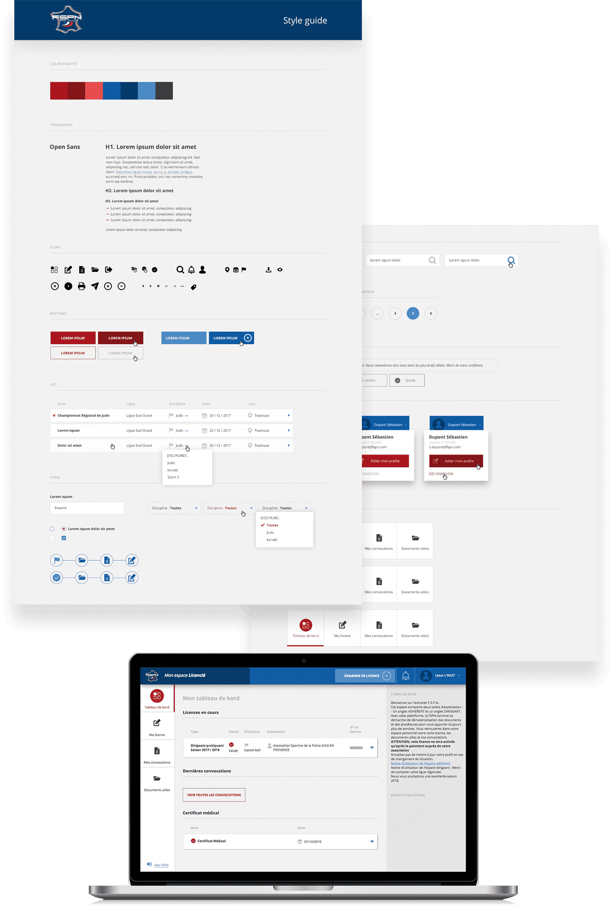 étude de cas de la fédération sportive de la police nationale design web