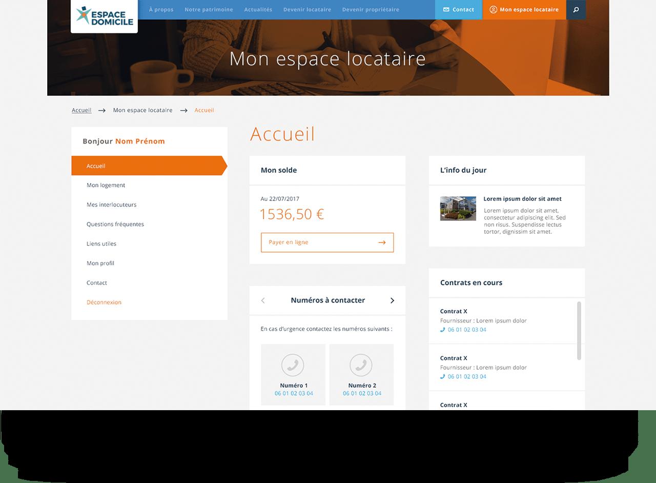 étude de cas espace domicile, application web sur mesure à Saint Nazaire